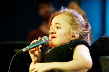 Mira Thompson singing