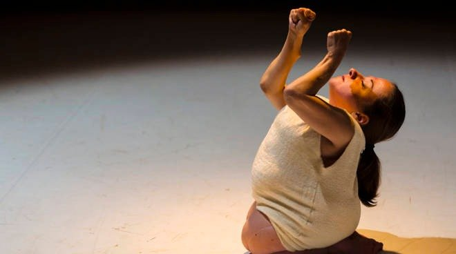 Woman with disability Performing contemporary dance