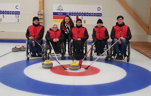 Polish national team wheelchair curling