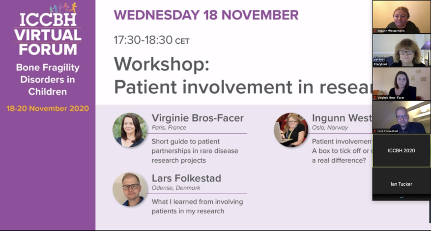 Screenshot from workshop on patient involvement