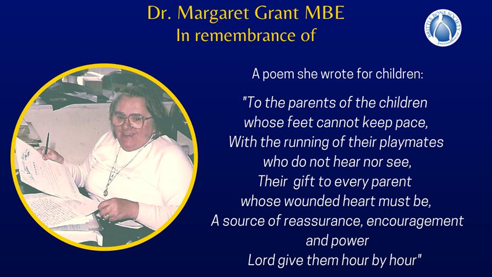 Death notice of Margaret grant