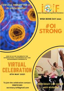 Flyer for Wishbone Day event of IOIF in India