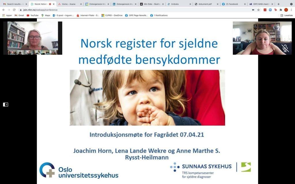 Screenshot norwegian registry